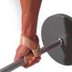 становая тяга с лямками или ремешками