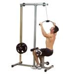Тренажер для тяги блока вниз. Можно делать тягу за голову, а можно тянуть к груди