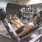Тренировка мышц голени Жим носками в тренажере для жима ногами