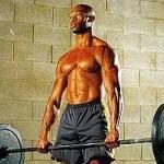 Тяга штанги к подбородку способствует укреплению мышц шеи