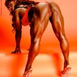 Dayana Cadeau Дайана Кадо Культуристка Задняя поверхность бедра, упругие ягодицы, икроножные мышцы