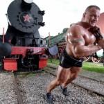 Мариуш Пудзяновский Mariusz Pudzianowski стронгмэн в боях без правил Тяга поезда