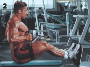 Качаем широчайшие мышцы спины Тяга нижнего блока сидя к поясу узким хватом