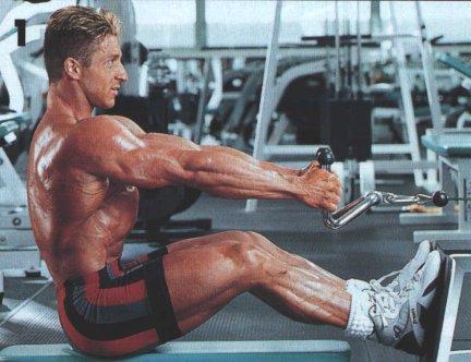 Упражнение на широчайшие мышцы спины Тяга нижнего блока