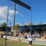 Михаил Кокляев устанавливает новый рекорд в метании гири 25 кг в высоту