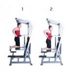 Тренировка грудных мышц и трицепсов Отжимания на брусьях с облегчением