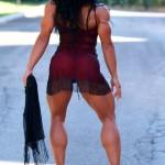 Культуристка Мави Джоя. Красивая мускулистая женская голень