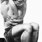 Арнольд Шварцнеггер Пресс 6 кубиков Подъемы коленей в висе на перекладине