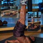 Подъемы ног лежа Отличное упражнение на пресс в домашних условиях