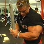 Ли Прист Lee Priest Тренировка трицепсов с веревочной рукояткой