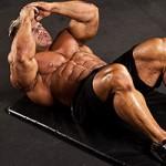 Бодибилдер Джей Катлер Jay Cutler Скручивания Тренирока мышц пресса.