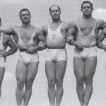 Стив Станко, самый высокий на фото, стронгмэны прошлого