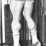 Подъемы на носки стоя, тренировка мышц голени