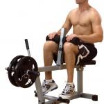 Тренировка камбаловидных мышц. Подъемы на носки сидя