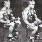 Том Платц, подъемы на носки сидя, тренировка мышц голени, бодибилдинг