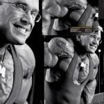 Ли Прист, тренировка груди, отжимания на брусьях с грузом, бодибилдинг