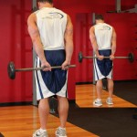 Качаем мышцы предплечья, сгибание кистей со штангой за спиной, бодибилдинг