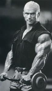 Ли Прист, подъемы на бицепс обратным хватом, тренировка бицепсов и предплечий, Lee Priest reverse grip biceps curls