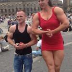 Женский бодибилдинг, самая высокая бодибилдерша Мария Кэролайн Уоттел, женский бицепс, красивые бедра