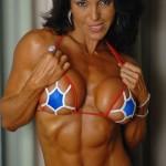 Инес Джименез, бодибилдинг для женщин, рельефный женский пресс и красивая грудь, мускулистая девушка бодибилдерша культуристка