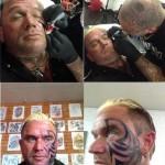 Бодибилдер Ли Прист, новые татуировки на лице