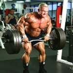 Ли Прист, тяга штанги в наклоне, тренировка широчайших мышц спины