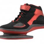 Черно красные кроссовки для тренировки мышц голени