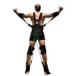 Тренировка с резиновыми жгутами в костюме