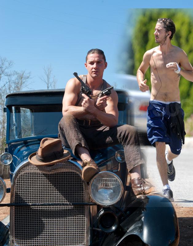 Голливудские актеры качки, кто накачал мышцы для съемок ... шайа лабаф