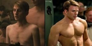 Капитан Америка, Крис Эванс, трансформация тела, актер качек