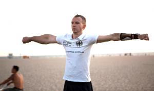 Армрестлер Маттиас Шлитте,  гигантское предплечье 46 см